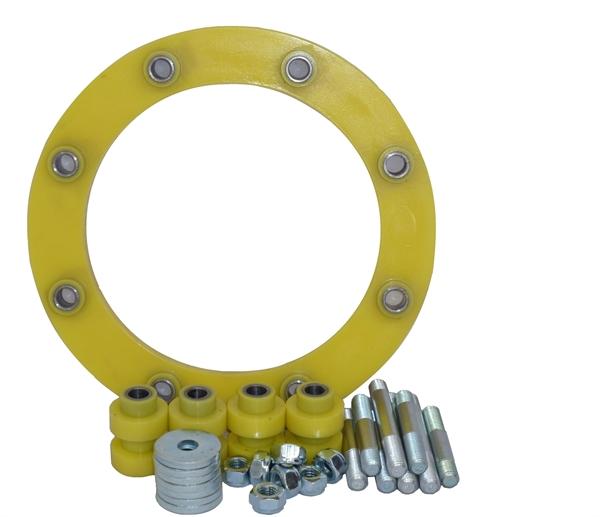 Elastomersatz für RWS / WDF / PEF mit Stehbolzen und PU-Flansch