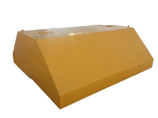 Deckel Aluminium L=3490 ComTec20/30, seitlicher Materialaustrag (ohne Ausschnitt)
