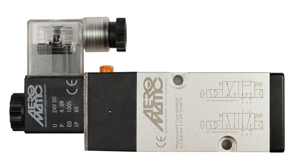 5/2 Wege-Magnetventil, 24V AC für Absperrklappe
